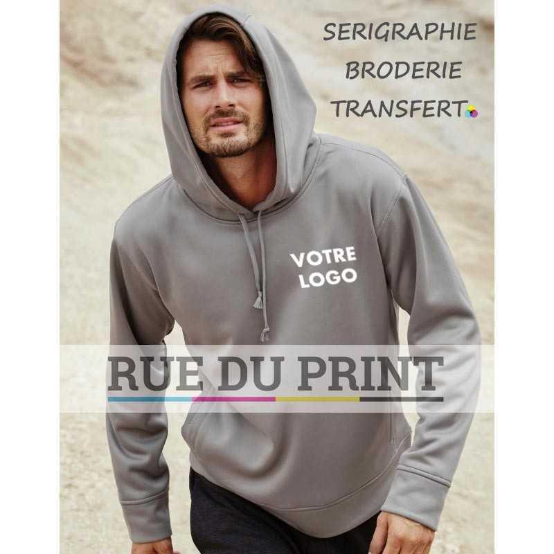 Sweat publicité homme Active Bonded 240 g/m² 100% polyester (doublé polyester) matériau doux