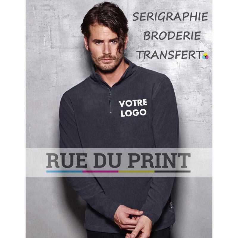 Gilet publicité homme Active Fleece 220 g/m² 100% polyester (micro polaire avec traitement anti-peluche)
