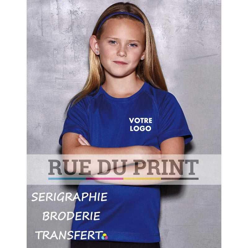 Tee-shirt publicité enfants Active 140 140 g/m² 100% polyester (filet ACTIVE-DRY)