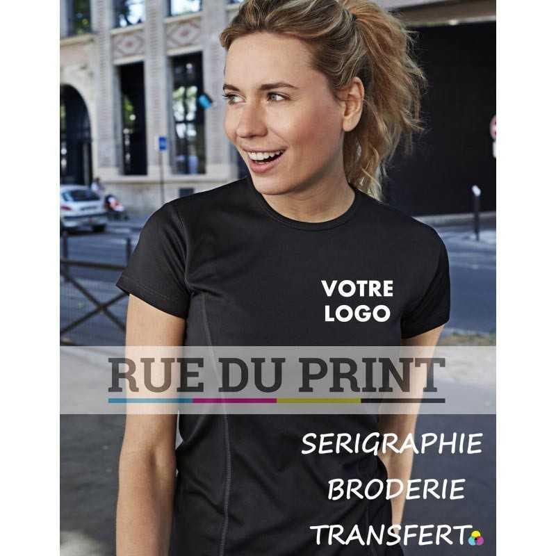 Tee-shirt publicité femme Performance 150 g/m² 100% polyester (micro polyester fonctionnel) toucher peau de pêche