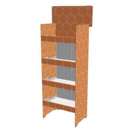 Etagère carton 60 x 40 x 150 cm - Modèle A