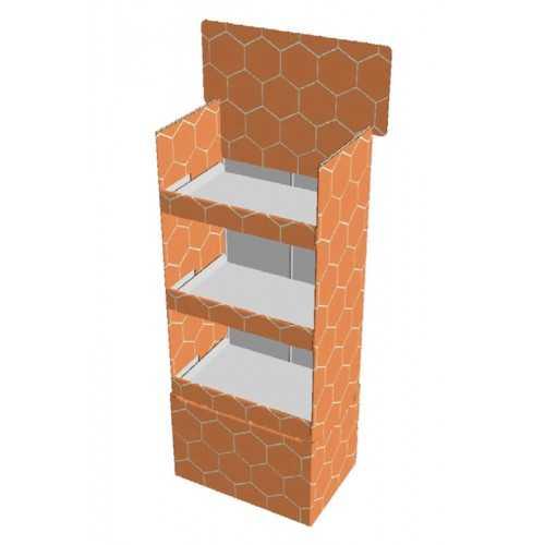Etagère carton 60 x 40 x 145 cm - Modèle A