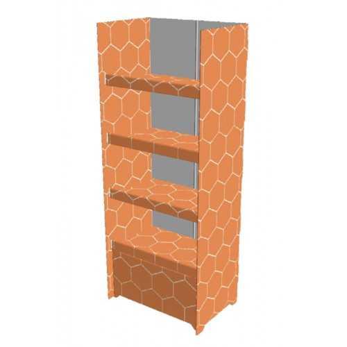 Etagère carton 60 x 40 x 150 cm - Modèle B