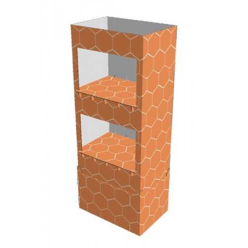 Etagère carton 60 x 40 x 145 cm - Modèle B