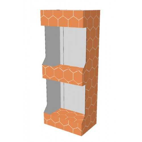 Etagère carton 60 x 40 x 150 cm - Modèle D