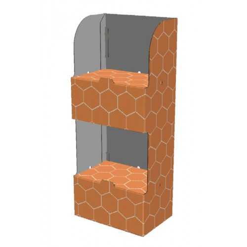 Etagère carton 60 x 40 x 150 cm - Modèle F