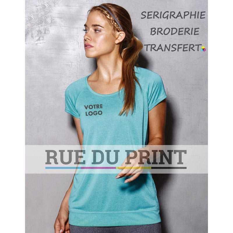 Tee-shirt publicité femme Active Performance 140 g/m² 100% polyester (mélange, ACTIVE-DRY° ) Surface lisse