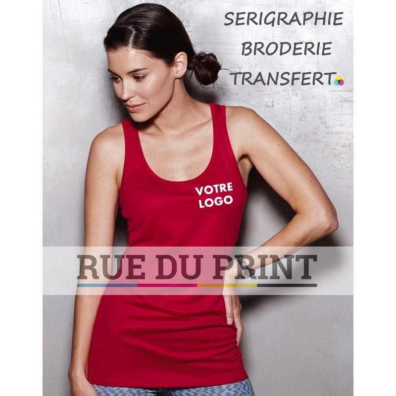 Débardeur publicité femme Active 140 140 g/m² 100% polyester (filet ACTIVE-DRY) tissu stretch