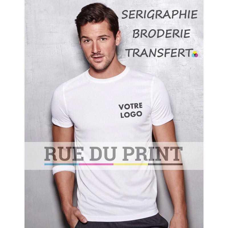 Tee-shirt publicité homme Active 140 140 g/m² 100% polyester (filet ACTIVE-DRY)