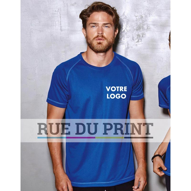 Tee-shirt publicité homme Active 140 140 g/m² 100% polyester (filet ACTIVE-DRY) tissu stretch manches set-in