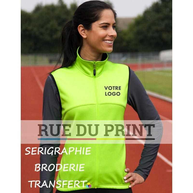 Gilet publicité sans manches femme Spiro Ext: 100% polyester int: 310 g/m², 100% polyester (polaire)
