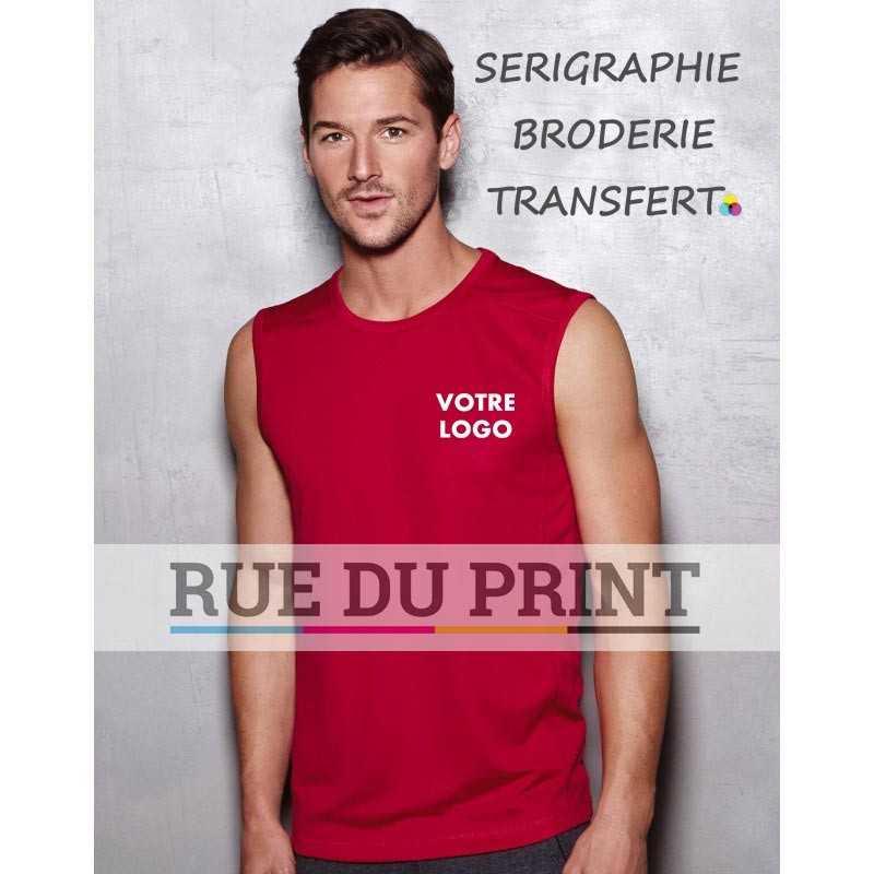 Débardeur publicité homme Sleeveless 140 g/m² 100% polyester (filet ACTIVE-DRY)