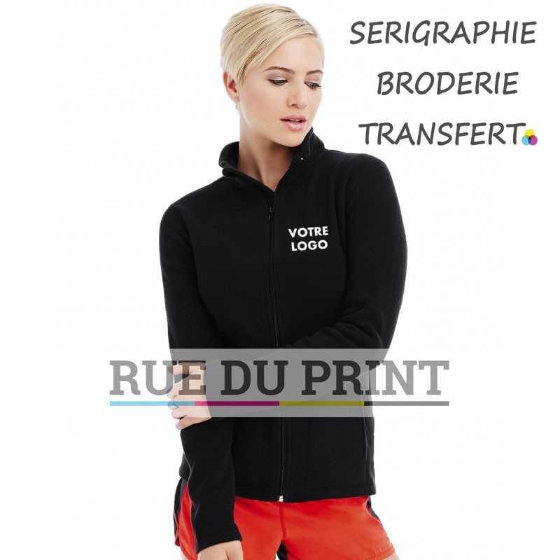Gilet publicité femme Active Fleece 220 g/m² 100% polyester (micro polaire avec traitement anti-peluche)
