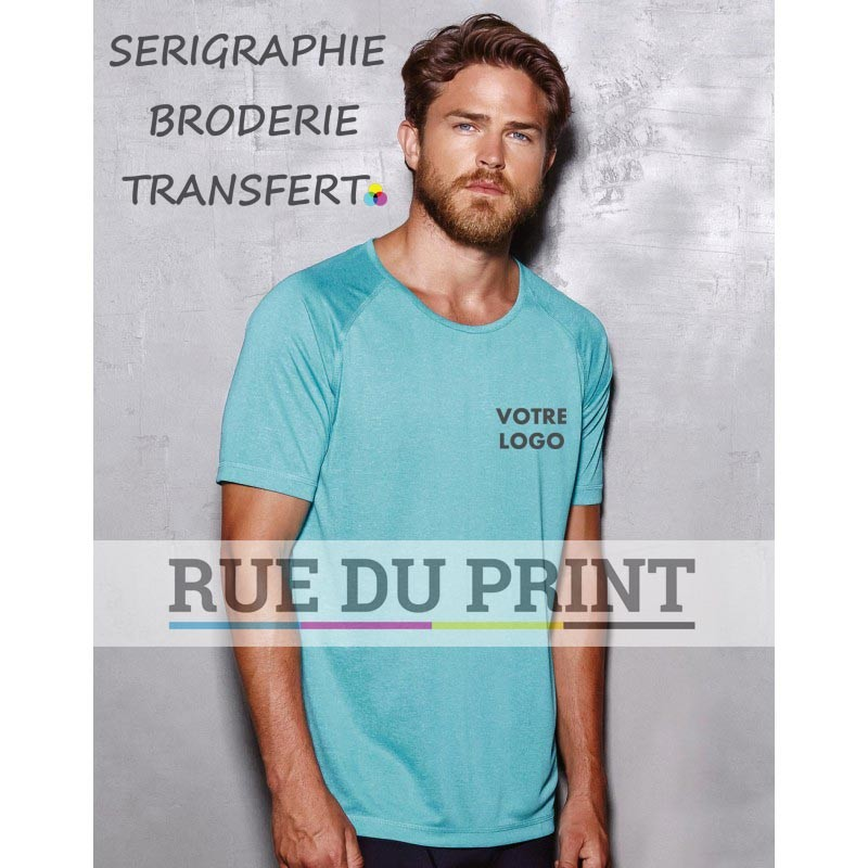 Tee-shirt publicité Active Raglan 140 g/m² 100% polyester (mélange, ACTIVE-DRY° )
