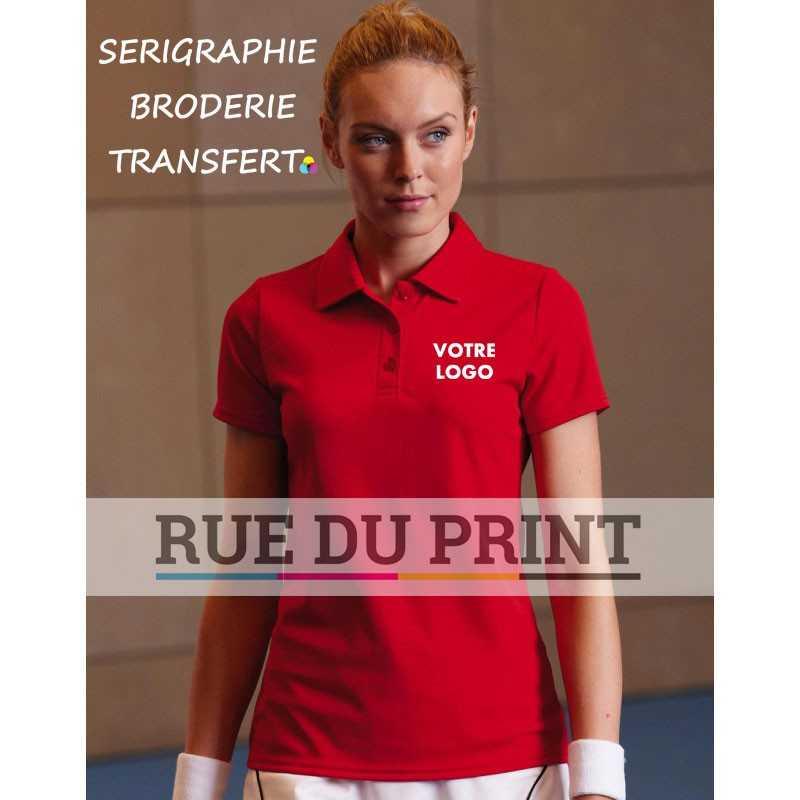 Polo publicité femme Fit Performance 140 g/m² 100% Polyester