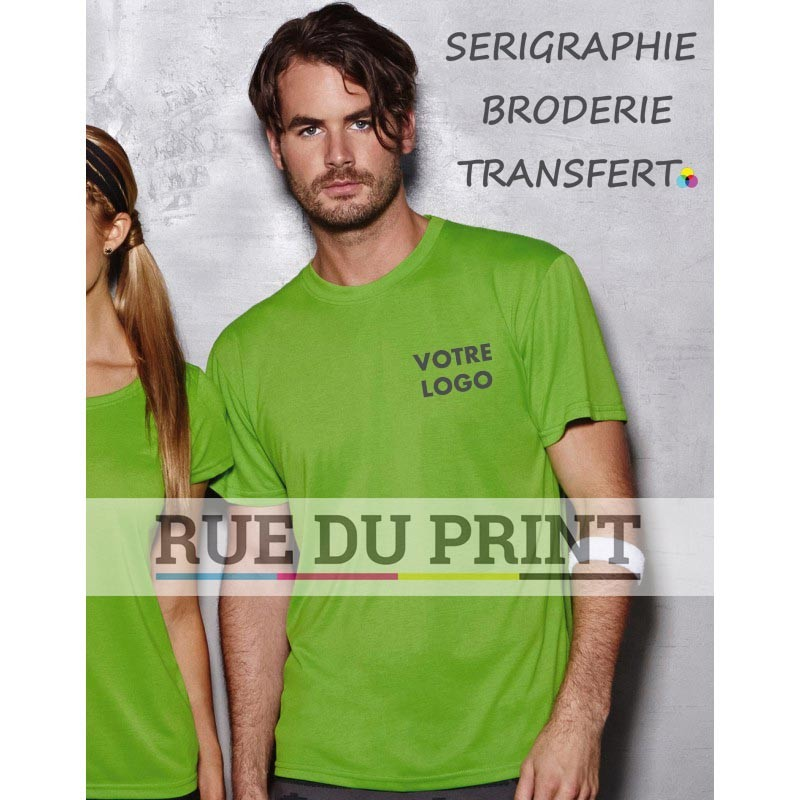 "Tee-shirt publicité homme Active Touch Men 160 g/m² 100% polyester (jersey simple ""toucher coton"", ""ACTIVE-DRY"")"
