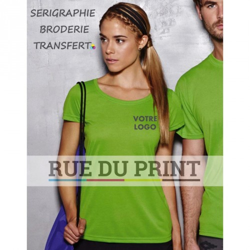 "Tee-shirt publicité femme Active Touch 160 g/m² 100% polyester (jersey simple ""toucher coton"", ""ACTIVE-DRY"")"