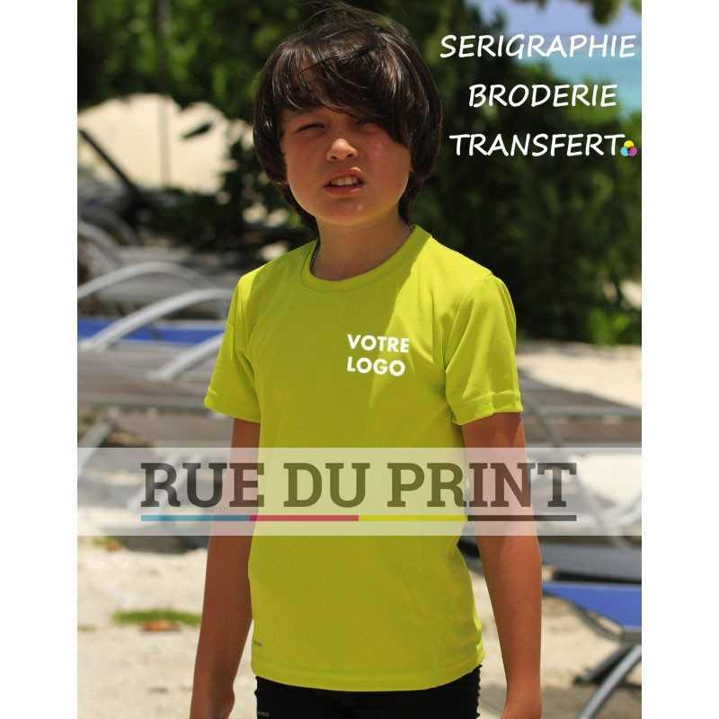 Tee-shirt publicité enfant séchage rapide 160 g/m2 100% polyester
