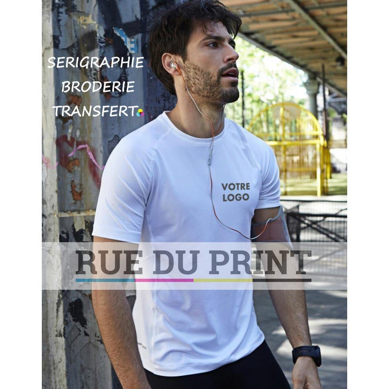 Tee-shirt publicité respirant 160 g/m² 95% polyster (tissu COOLdry), 5% élasthanne
