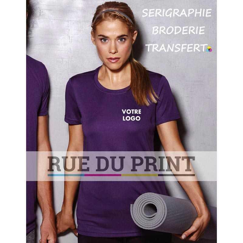 Tee-shirt publicité femme Active 140 g/m² 100% polyester (interlock, ACTIVE-DRY)