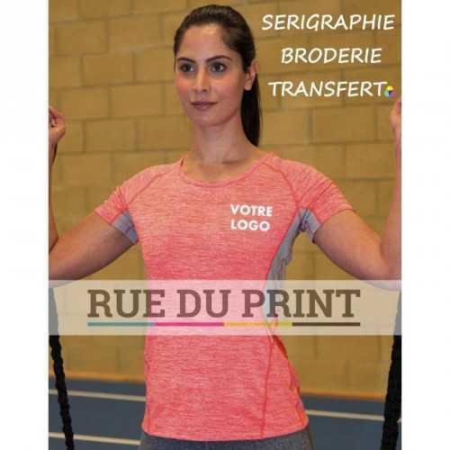 Tee-shirt femme Fitness séchage rapide