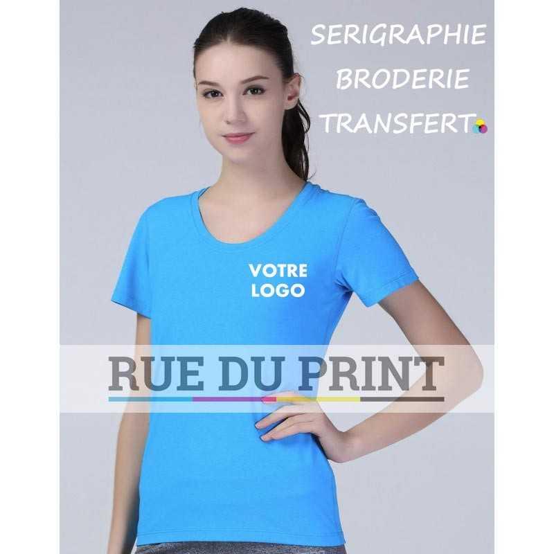 Tee-shirt publicité femme Fitness Shiny 180 g/m² Marl Orange: 92% polyester, 8% élasthanne