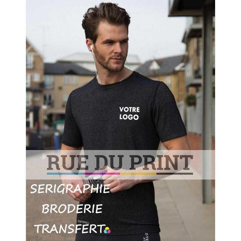 Tee-shirt publicité homme Fitness Shiny 180 g/m² 47% nylon, 47% polyester, 6% élasthanne