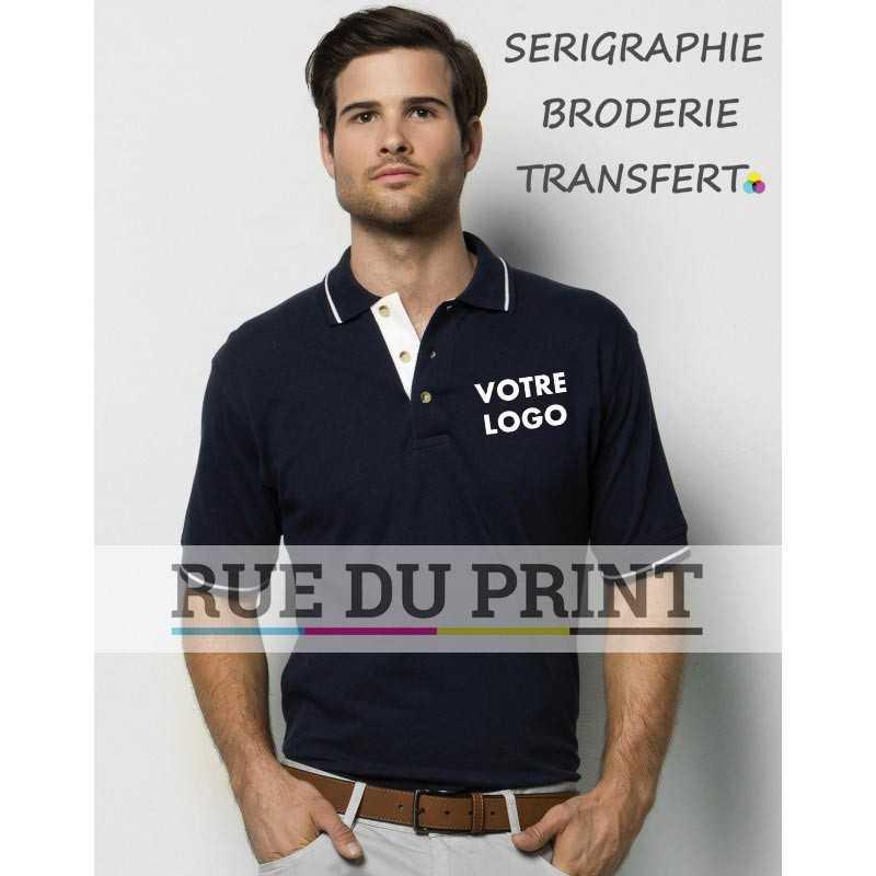 Polo publicité Contrast 210 g/m² 100% coton peigné piqué bord de col contrasté