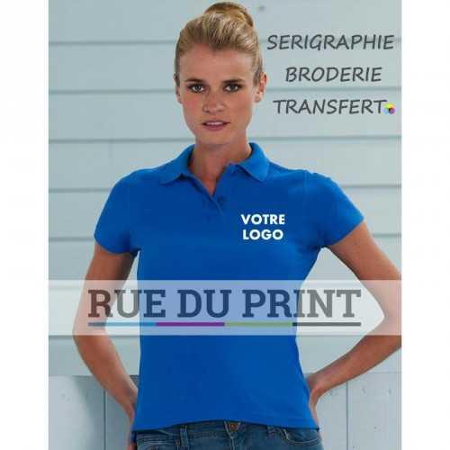 Polo publicitaire femme Better 215 g/m2 (White: 210 g/m2) 100% coton peigné ringspun col en bord côte