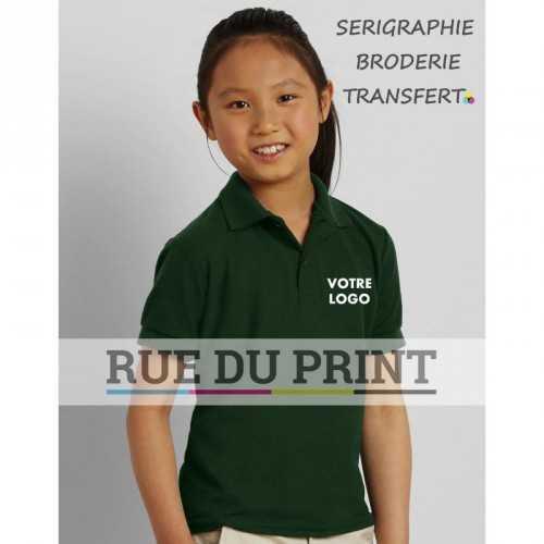Polo publicité double piqué DryBlend 207 g/m² (White: 200 g/m²) 65% polyester, 35% coton ringspun (double piqué) prérétréci