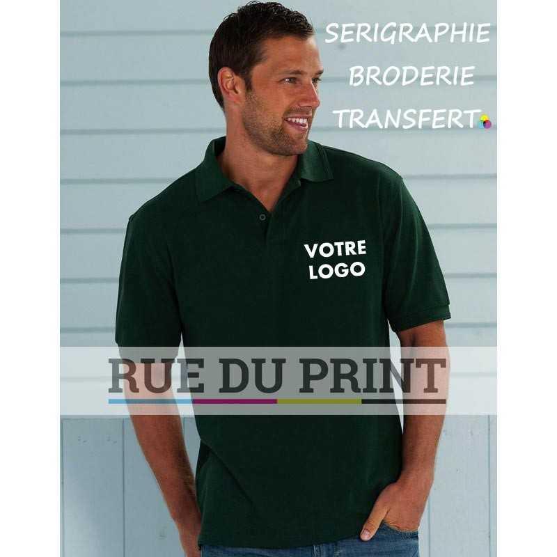 Polo publicité Hard Wearing 215 g/m2 (White: 210 g/m2) 65% polyester, 35% coton ringspun piqué