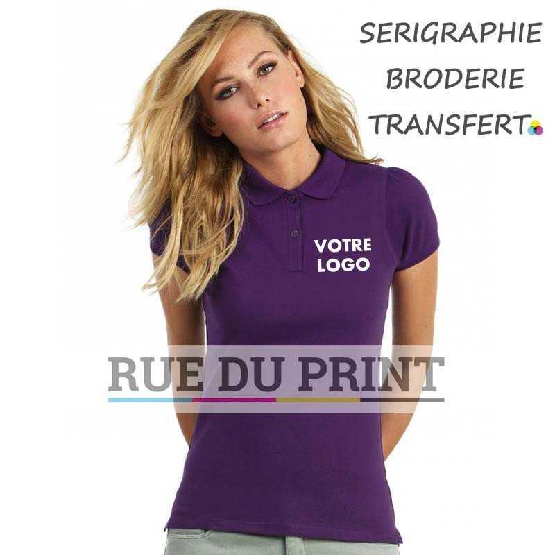 Polo publicité femme Heavymill 230 g/m2 100% coton ringspun bande de propreté bord côte au col et aux manches