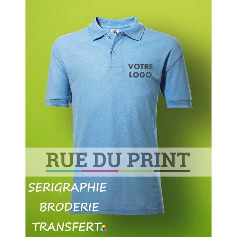Polo publicité enfant Poly 215 g/m2 (White: 210 g/m2) 65% polyester, 35% coton piqué à fil de chaîne continu (Ash Grey: 99% cot