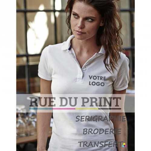 Polo publicité femme College 215 g/m² 100% coton ringspun prérétréci