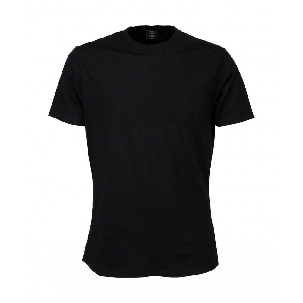 Hommes t shirt ringpun broderie coton décontracté manches courtes tee