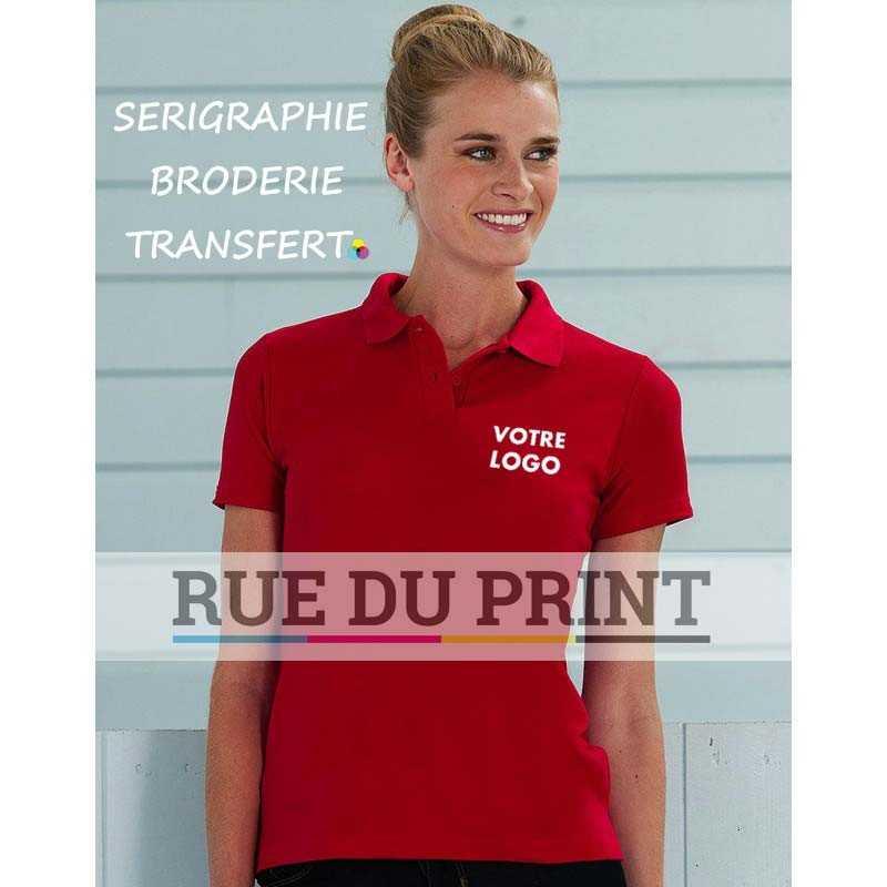 Polo personnalisé femme Blend 215 g/m² (White: 210 g/m²) 65% polyester, 35% coton ringspun piqué