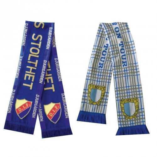 écharpes tricotées jacquard-luxe personnalisables
