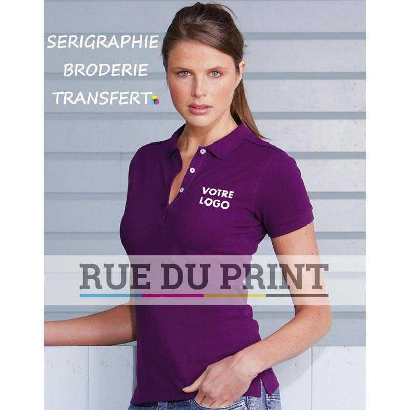 Polo publicité femme Stretch 210 g/m² (white: 205 g/m²) 95% coton, 5% Lycra® toucher très doux