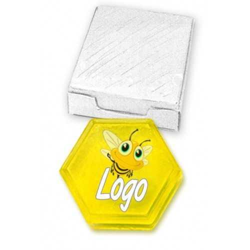Savon avec logo coulé nid d'abeille