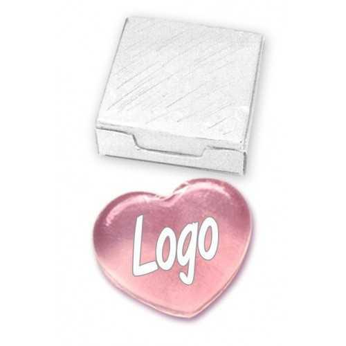 Savon avec logo coulé coeur