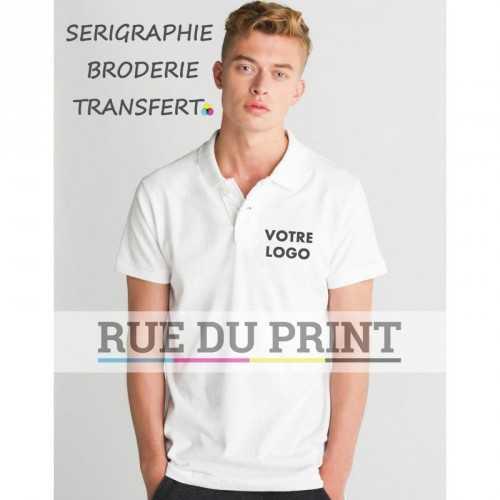 Polo publicité homme Jersey 220 g/m² 100% coton (single jersey) Charcoal Grey melange: 60% coton, 40% polyester