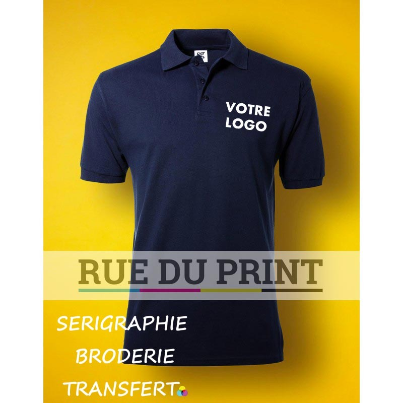 Polo Homme Cotton Personnalisable : support