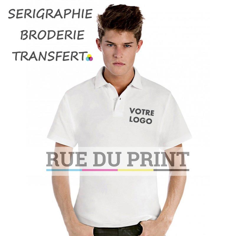 Polo publicité Piqué Heather 180 g/m² 100% coton ringspun Heather Grey: 90% coton, ringspun peigné, 10% viscose