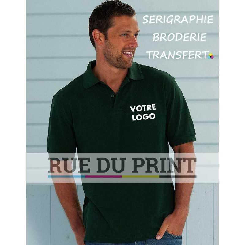 Chemise polo publicité Plus taille 5XL et 6XL 215 g/m² (White: 210 g/m²) 65% polyester, 35% coton ringspun piqué