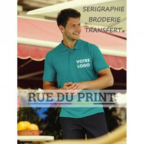 Polo publicité Blended Fabric 180 g/m² (White: 170 g/m²) 65% polyester 35% coton bande de propreté