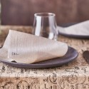 Nappe et set de table, publicitaire (papier recyclé et kraft)