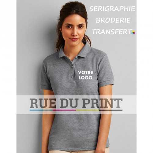 Polo publicité double piqué femme Premium Cotton 220 g/m² (White: 211 g/m²) 100% coton peigné ringspun Sport Grey: 90% coton p