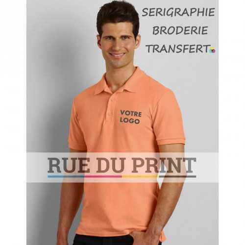 Polo publicité double piqué Premium Cotton 220 g/m² (White: 211 g/m²) 100% coton peigné ringspun Sport Grey: 90% coton, 10% po