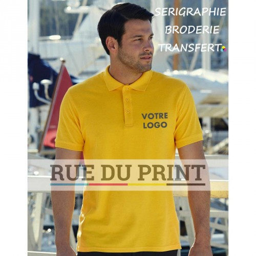 Polo publicité Premium White: 170 g/m², couleurs: 180 g/m² 100% coton (Ash: 90% coton, 10% polyester) patte de boutonnage 3 bo