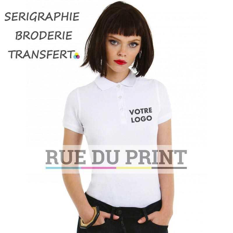 Haut publicité femme intemporel Safran 180 g/m² 100% coton, prérétréci, ring-spun peigné (piqué fin)